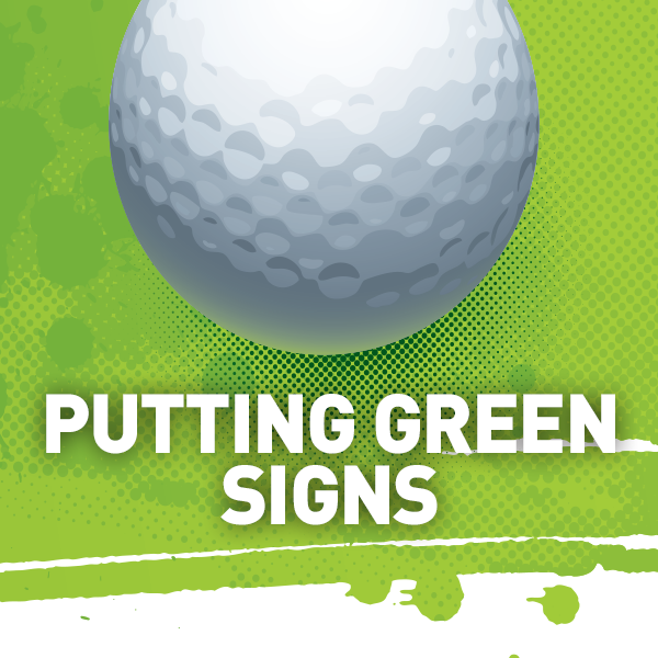 Putting Green Signs